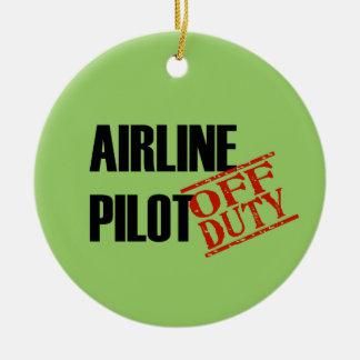 OFF DUTY Airline Pilot Ceramic Ornament