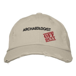 Off Duty Archaeologist Embroidered Baseball Caps