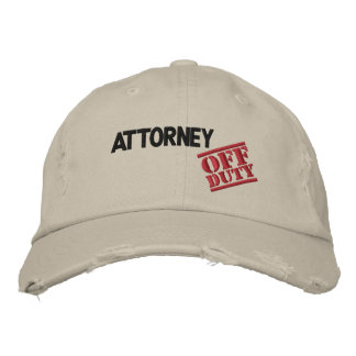 Off Duty Attorney Embroidered Hats