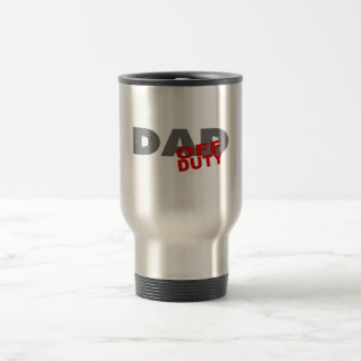Off Duty Dad (Red) Stainless Steel Travel Mug