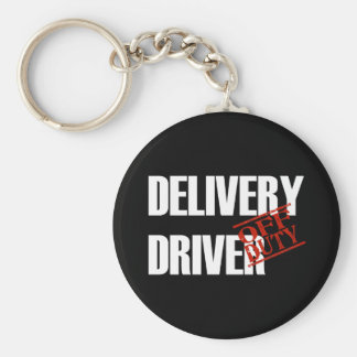 OFF DUTY DELIVERY DRIVER DARK KEYCHAIN
