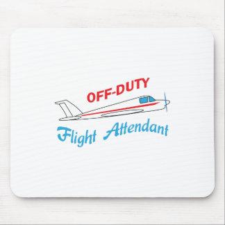 OFF DUTY FLIGHT ATTENDANT MOUSE PAD
