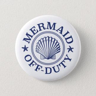 Off Duty Mermaid 2 Inch Round Button