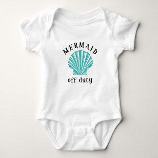 Off Duty Mermaid Baby Bodysuit