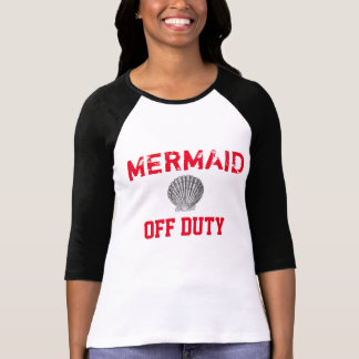 Off Duty Mermaid Baseball Tee