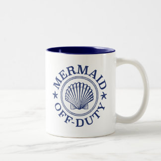 Off Duty Mermaid Two-Tone Coffee Mug