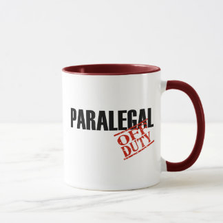 Off Duty Paralegal Mug