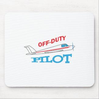 OFF DUTY PILOT MOUSE PAD