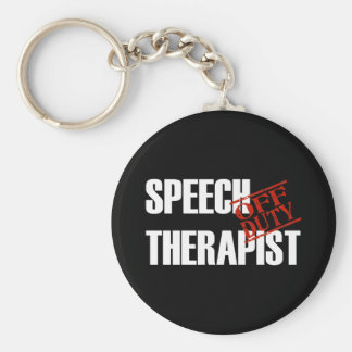 OFF DUTY SPEECH THERAPIST DARK KEYCHAIN