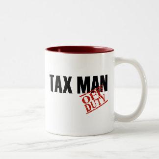 OFF DUTY TAX MAN Two-Tone COFFEE MUG