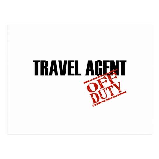 OFF DUTY TRAVEL AGENT LIGHT POST CARD