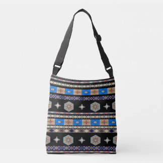 Off-Grid (earth tones-blue) Crossbody Bag