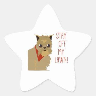 Off My Lawn Star Sticker