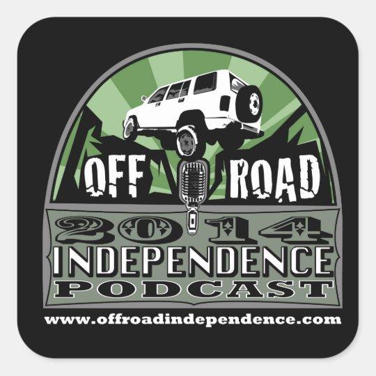 "Off-Road Independence 3""x3"" radius corner stickers"
