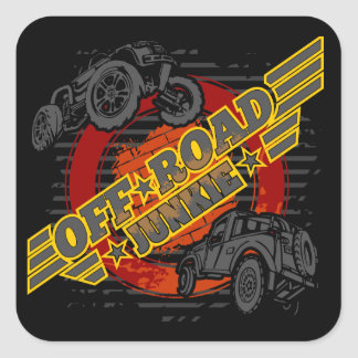 Off Road Junkie 4x4 Square Sticker