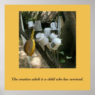 Off the beaten path creativity poster