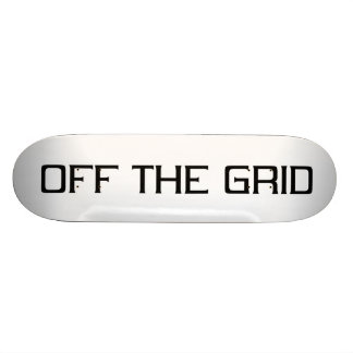 Off the grid black skateboard deck