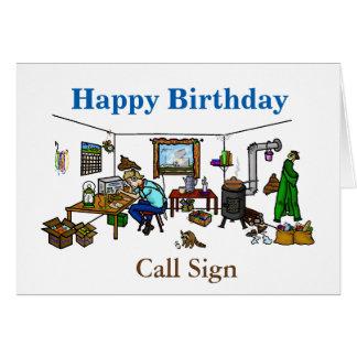 Off The Grid Ham Radio Birthday Card