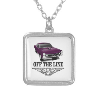 off the line hot car silver plated necklace