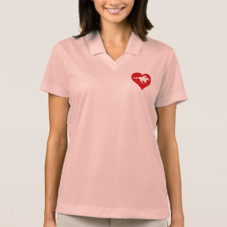 Off the track and into my heart logo polo shirt
