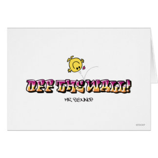 Off The Wall! Greeting Card