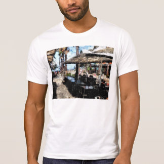 Off-time in a restaurant tshirts