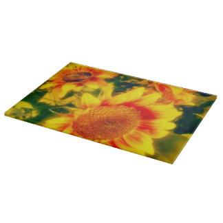 Off to the Fair Sunflower Cutting Board