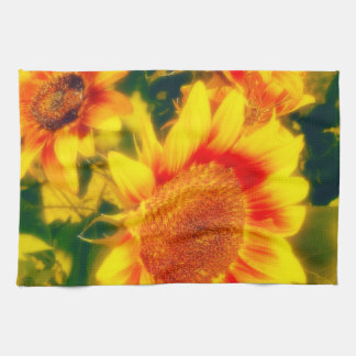 Off to the Fair Sunflower Kitchen Towel