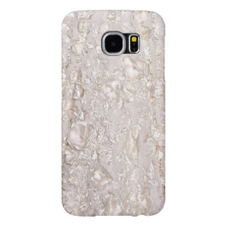 Off White Fine Lace Texture Galaxy Case