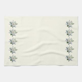 Off white Swiss Towel Switzerland Edelweiss flower
