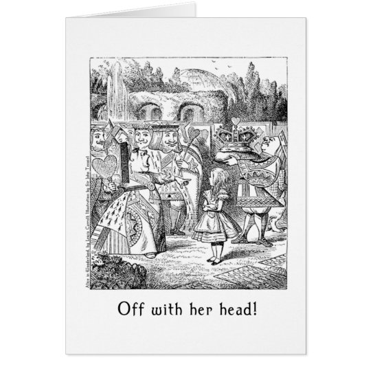 Off with her head! Alice in Wonderland Art Card