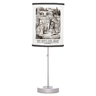 Off With Her Head! Alice Queen Hearts Wonderland Table Lamp