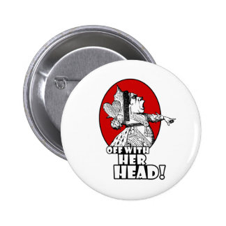Off With Her Head Logo Pinback Button