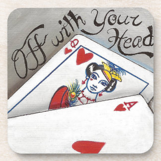Off With Your Head Coaster Queen of Hearts Coaster