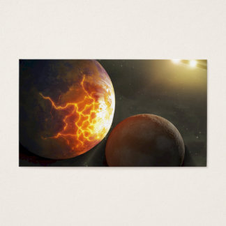 Off-World Planetary Crash Illustration Business Card