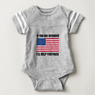 Offended USA Flag Help Pack Baby Bodysuit