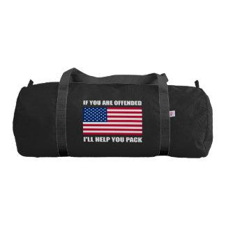 Offended USA Flag Help Pack Gym Bag