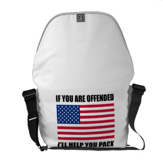 Offended USA Flag Help Pack Messenger Bags