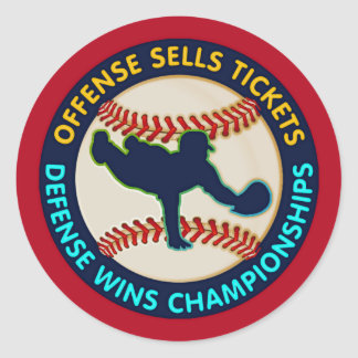Offense Sells Tickets Classic Round Sticker