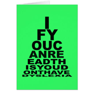 Offensive to Dyslexics Greeting Card