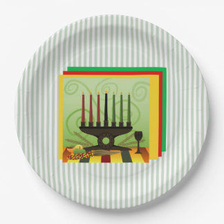 Offer Of Bounty Kwanzaa Party Paper Plates