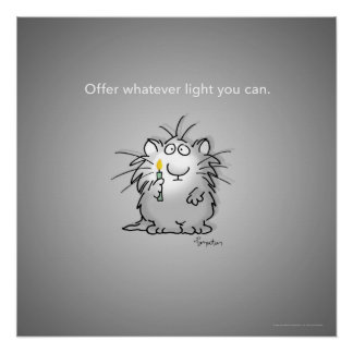 OFFER WHATEVER LIGHT YOU CAN by Sandra Boynton Poster