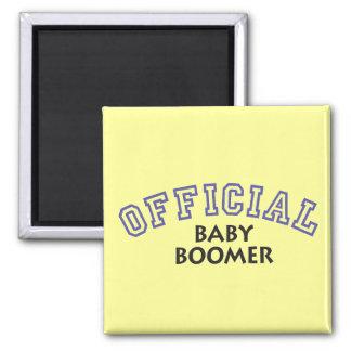 Offical Baby Boomer - Blue Fridge Magnet