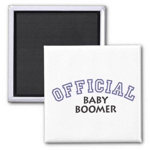 Offical Baby Boomer - Blue Refrigerator Magnet