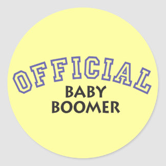 Offical Baby Boomer - Blue Classic Round Sticker