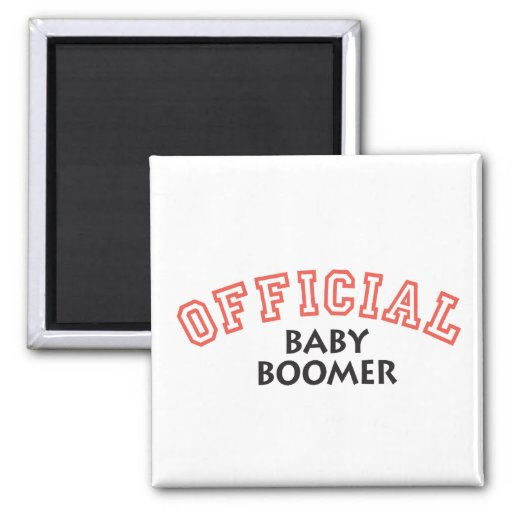 Offical Baby Boomer - Red Refrigerator Magnet