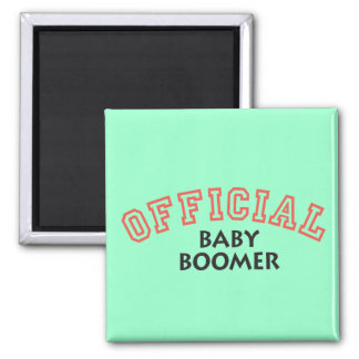Offical Baby Boomer - Red Fridge Magnets