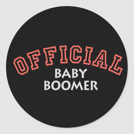 Offical Baby Boomer - Red Round Stickers