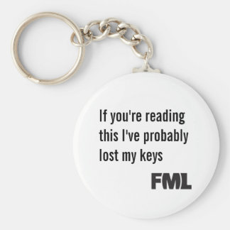 Offical FML Keychain: Lost keys Basic Round Button Keychain