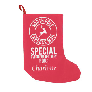 Offical North Pole Express Mail Name Stocking